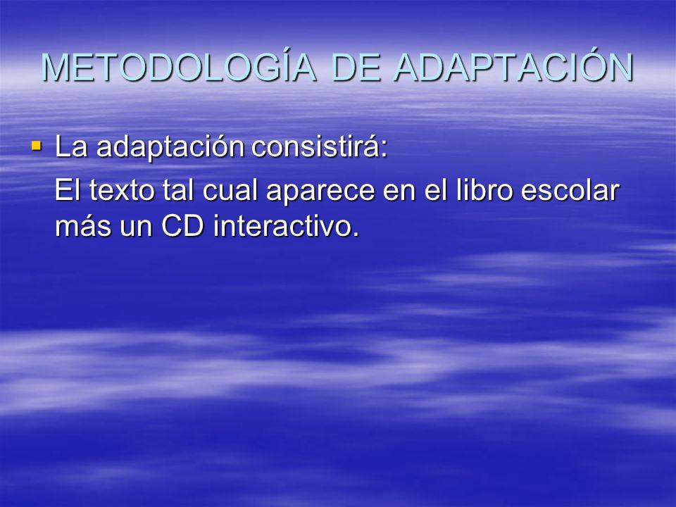 METODOLOGÍA DE ADAPTACIÓN