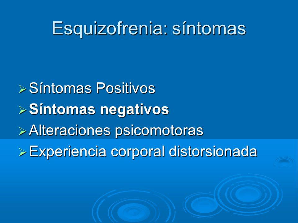 Esquizofrenia: síntomas