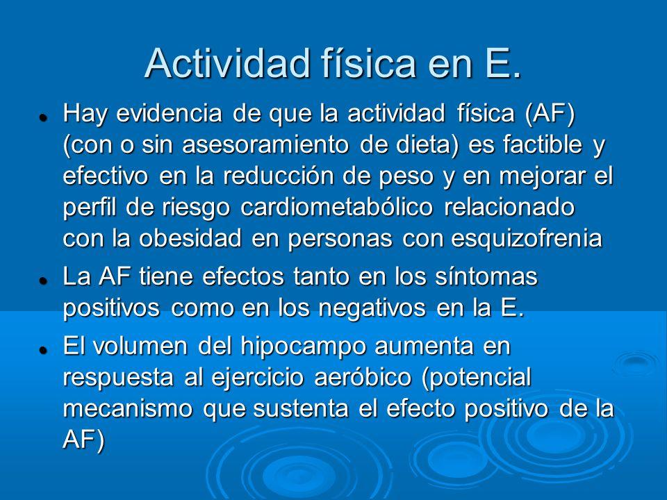 Actividad física en E.