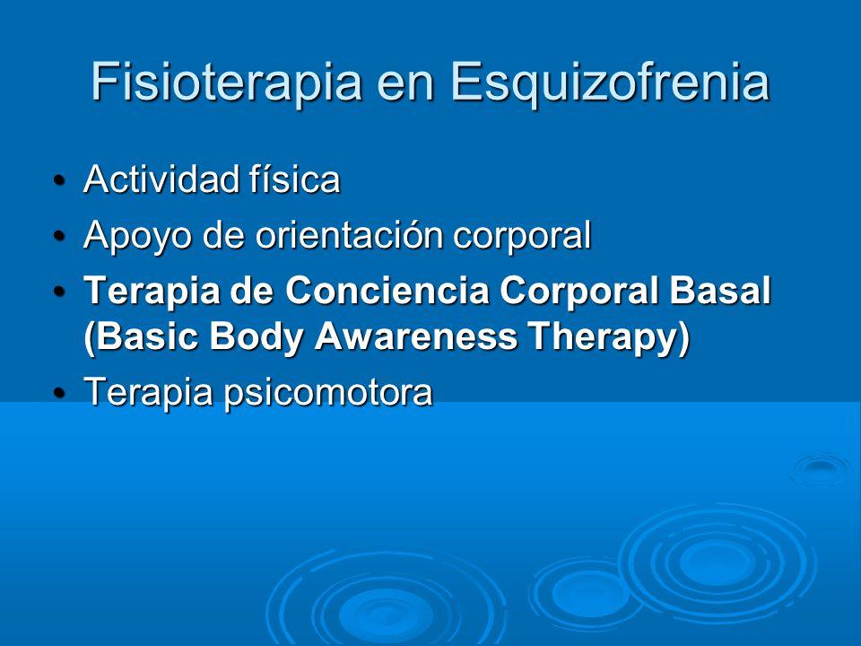 Fisioterapia en Esquizofrenia