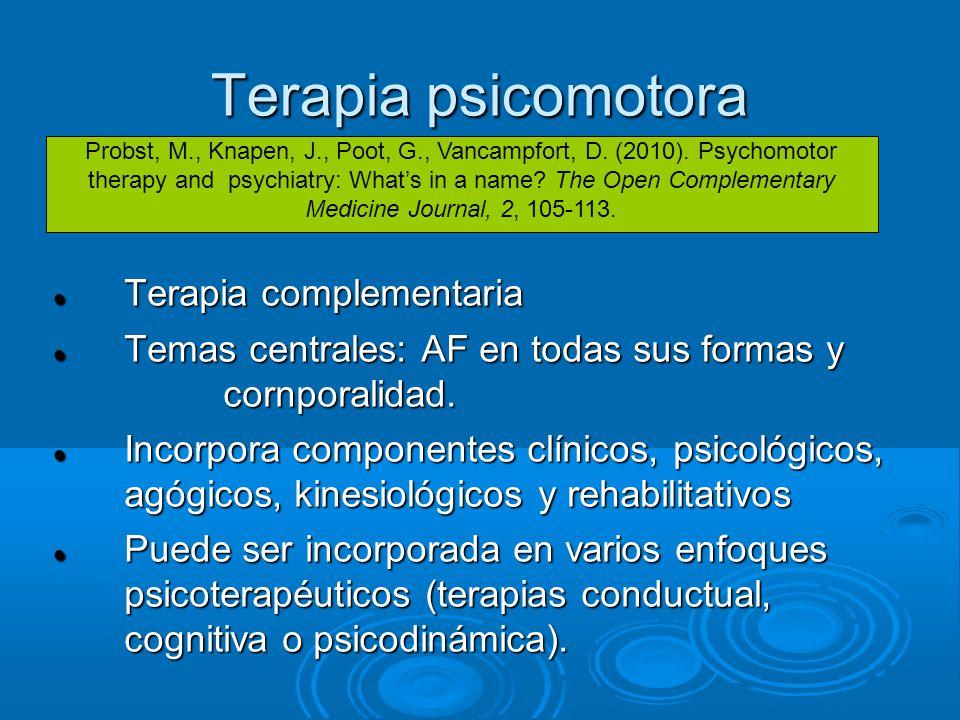 Terapia psicomotora Terapia complementaria