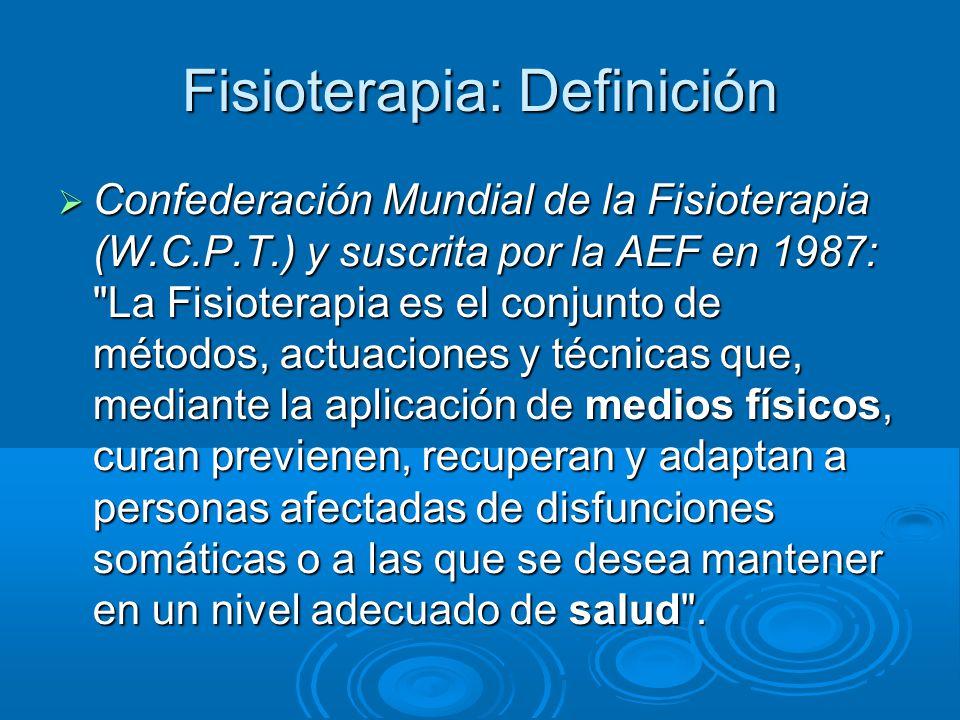Fisioterapia: Definición