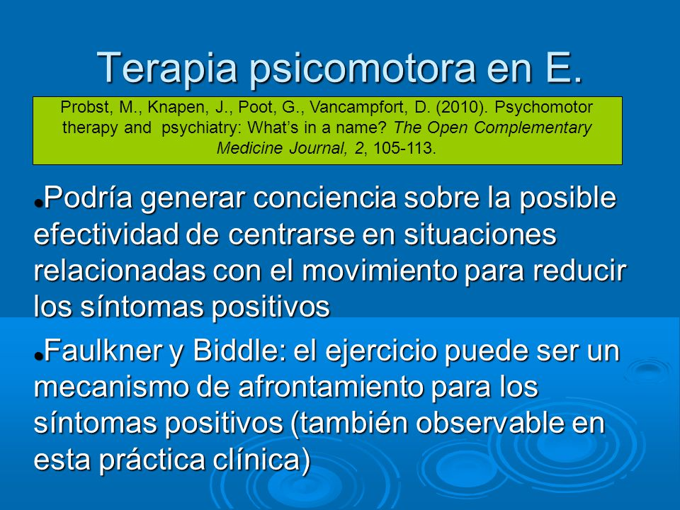 Terapia psicomotora en E.