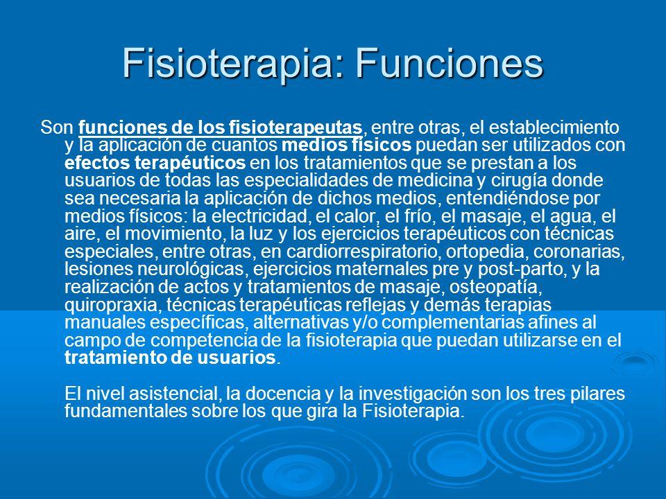 Fisioterapia: Funciones