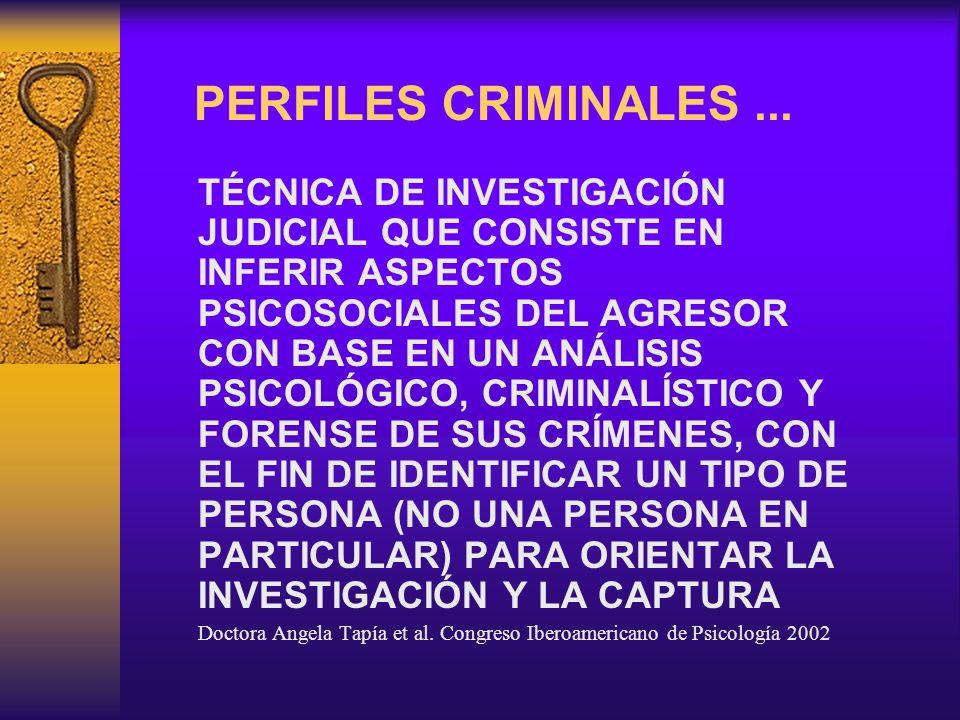 PERFILES CRIMINALES ...