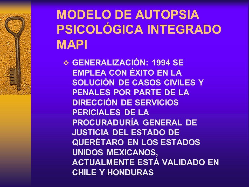 MODELO DE AUTOPSIA PSICOLÓGICA INTEGRADO MAPI