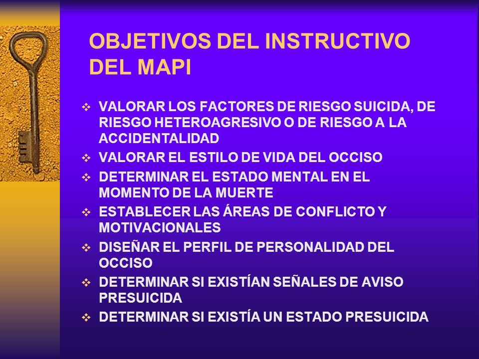 OBJETIVOS DEL INSTRUCTIVO DEL MAPI