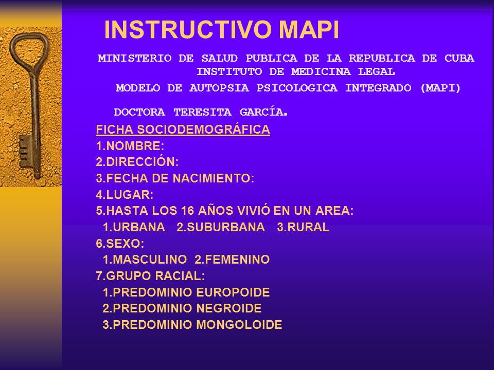 MODELO DE AUTOPSIA PSICOLOGICA INTEGRADO (MAPI)