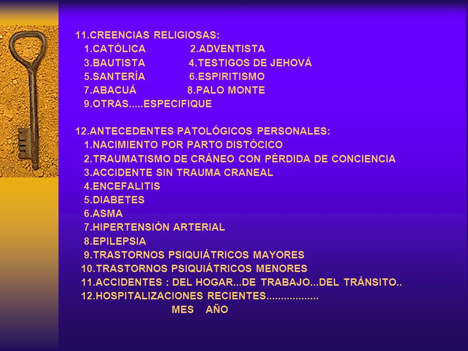 11.CREENCIAS RELIGIOSAS:
