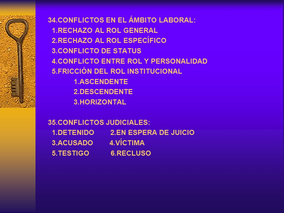 34.CONFLICTOS EN EL ÁMBITO LABORAL:
