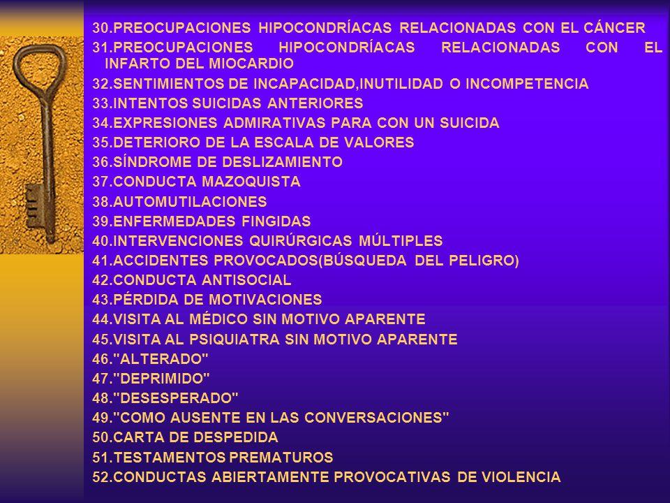 30.PREOCUPACIONES HIPOCONDRÍACAS RELACIONADAS CON EL CÁNCER