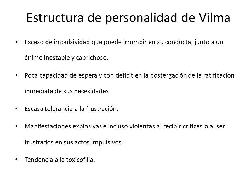 Estructura de personalidad de Vilma