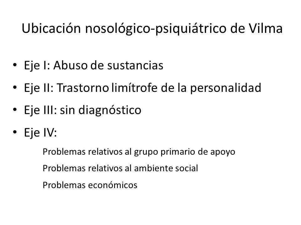 Ubicación nosológico-psiquiátrico de Vilma