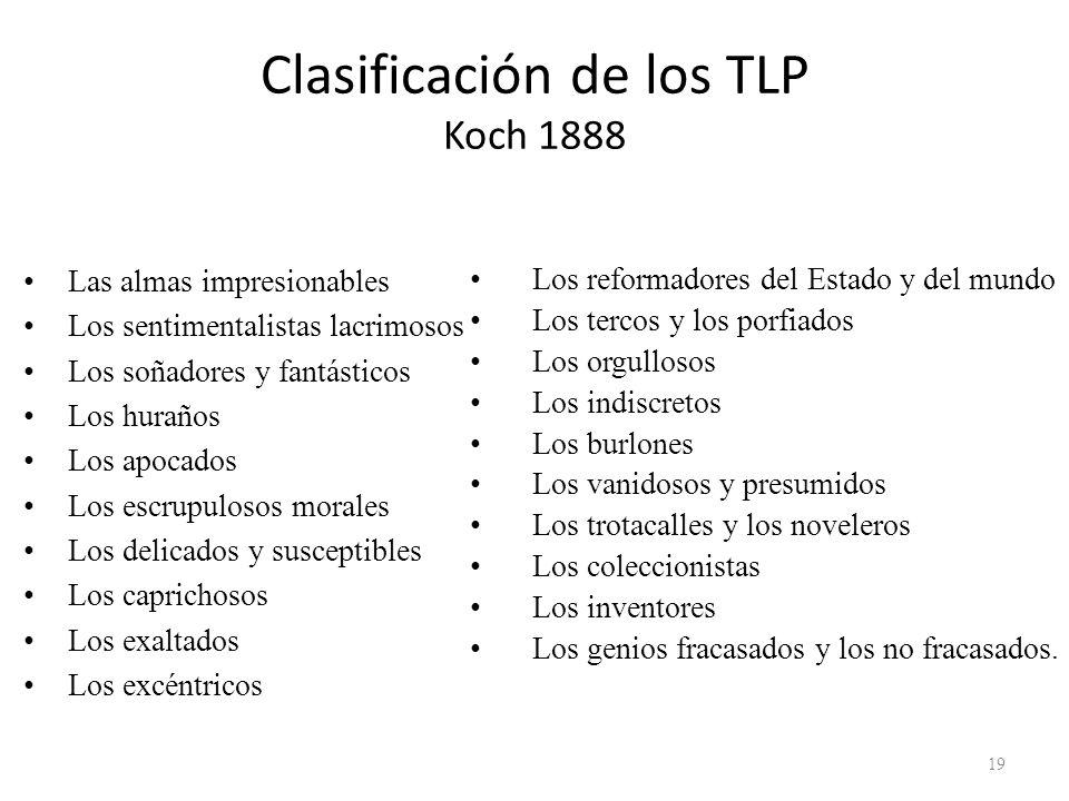 Clasificación de los TLP Koch 1888