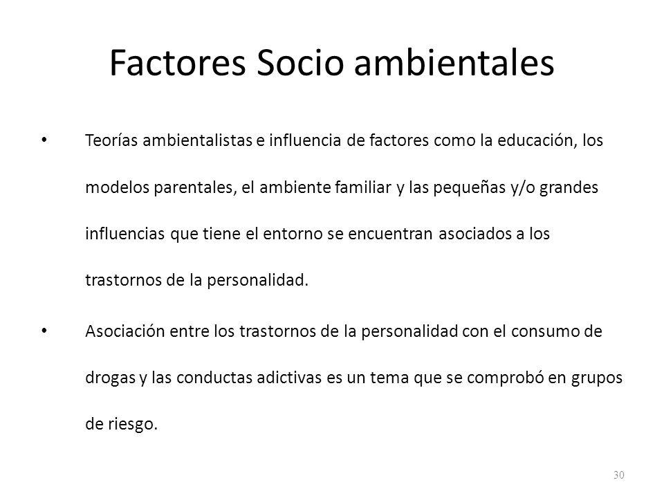 Factores Socio ambientales