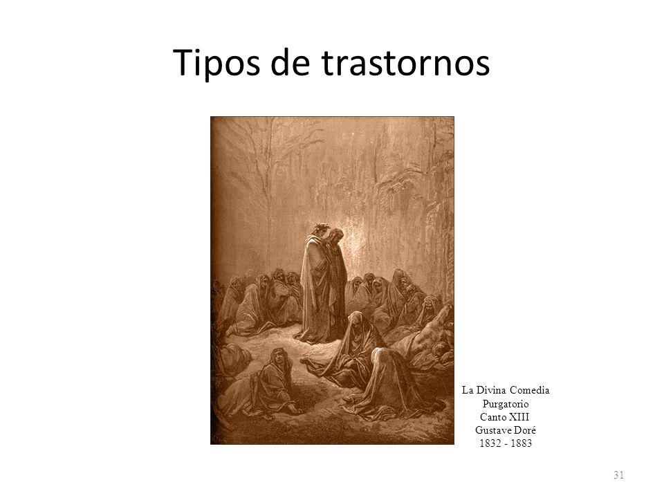 Tipos de trastornos La Divina Comedia Purgatorio Canto XIII