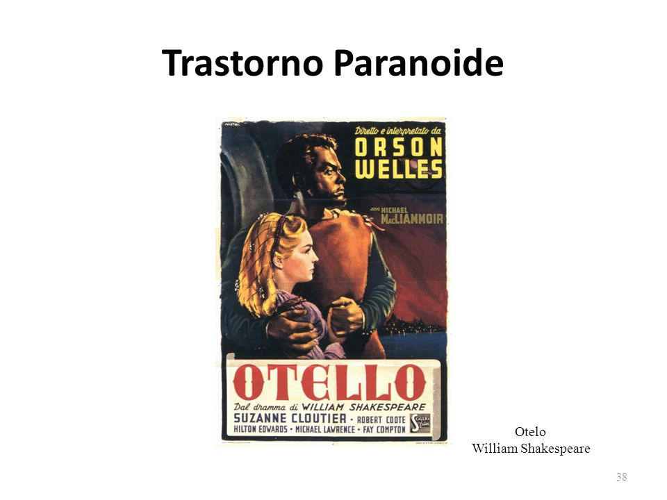 Trastorno Paranoide Otelo William Shakespeare