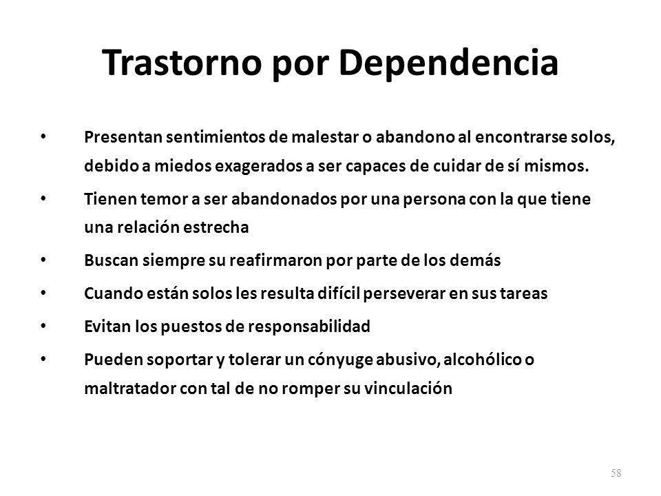 Trastorno por Dependencia