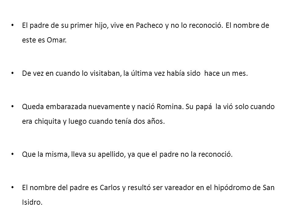 El padre de su primer hijo, vive en Pacheco y no lo reconoció