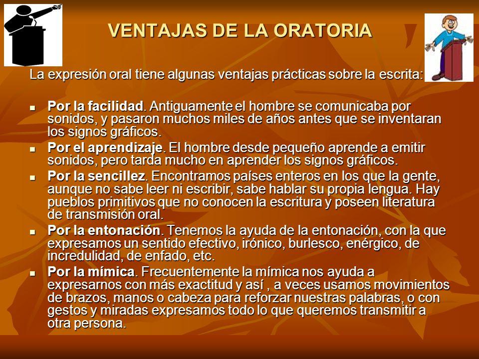 VENTAJAS DE LA ORATORIA
