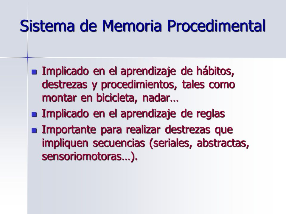 Sistema de Memoria Procedimental