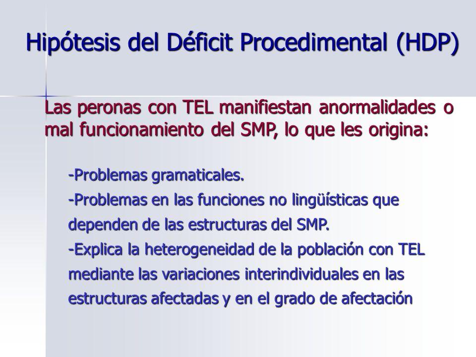 Hipótesis del Déficit Procedimental (HDP)