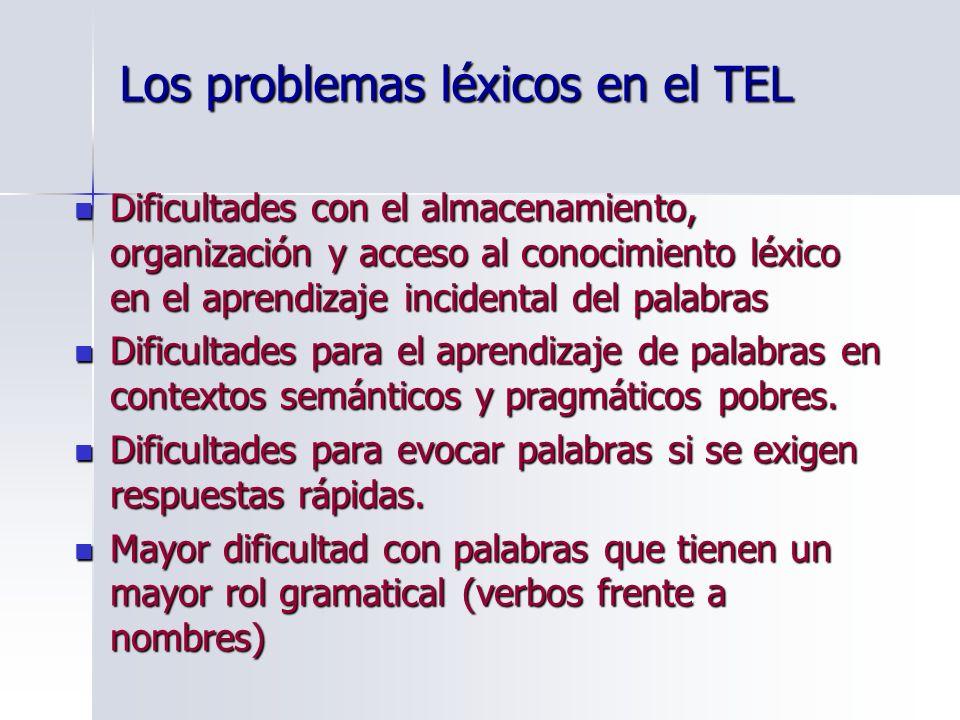 Los problemas léxicos en el TEL