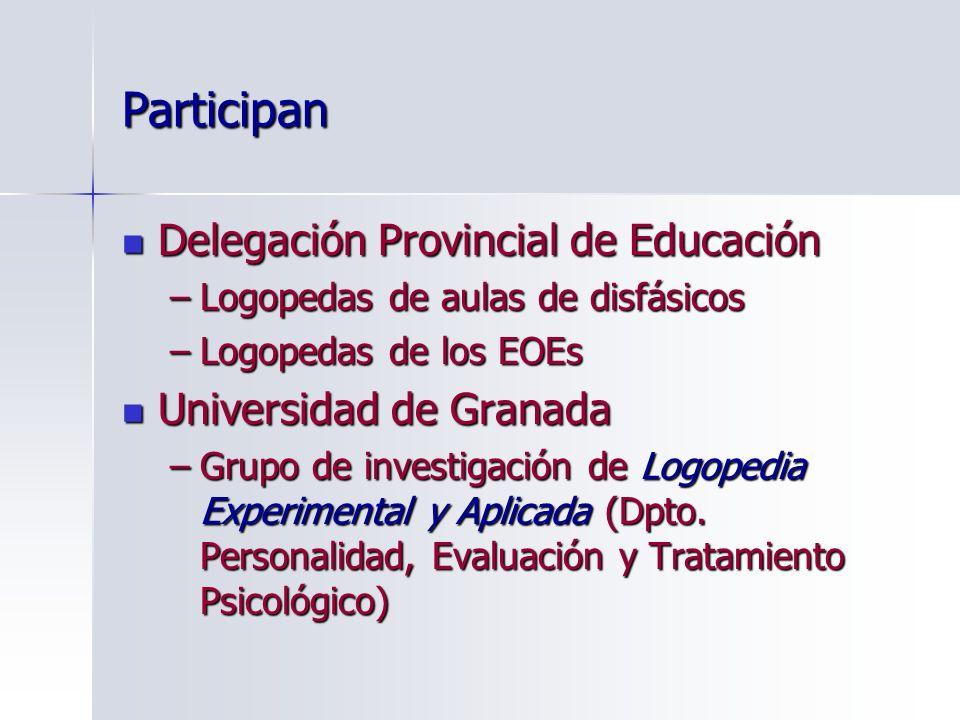Participan Delegación Provincial de Educación Universidad de Granada
