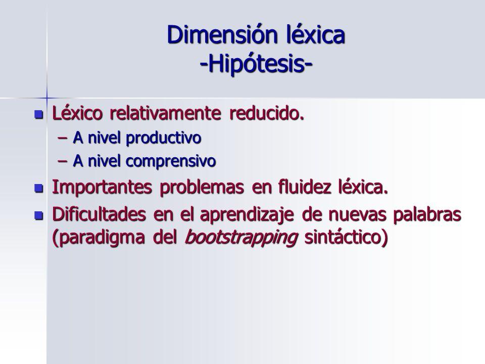 Dimensión léxica -Hipótesis-