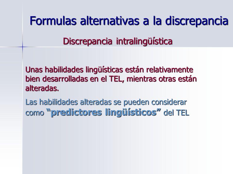 Formulas alternativas a la discrepancia