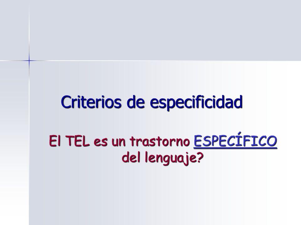 Criterios de especificidad