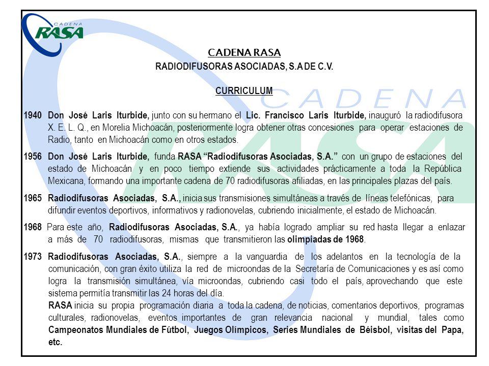RADIODIFUSORAS ASOCIADAS, S.A DE C.V.