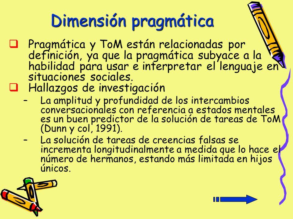 Dimensión pragmática