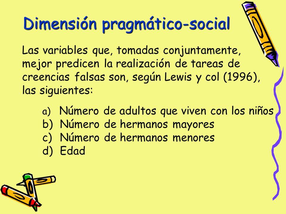 Dimensión pragmático-social