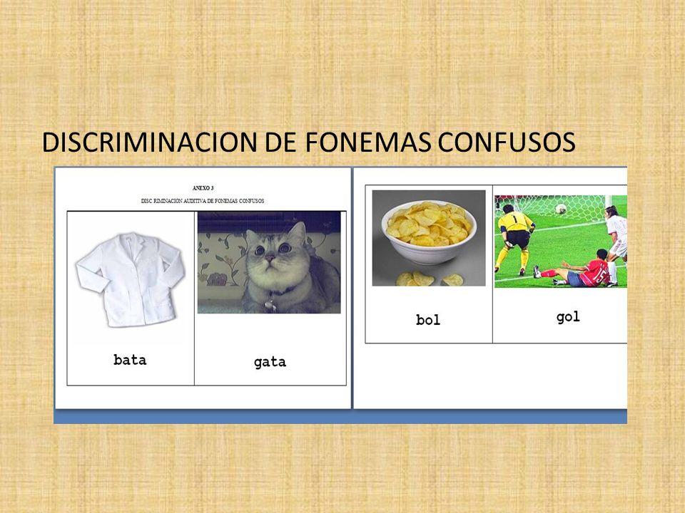 DISCRIMINACION DE FONEMAS CONFUSOS