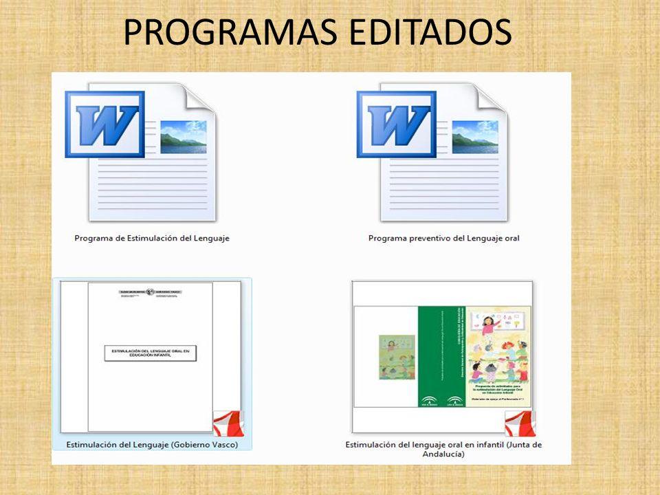 PROGRAMAS EDITADOS