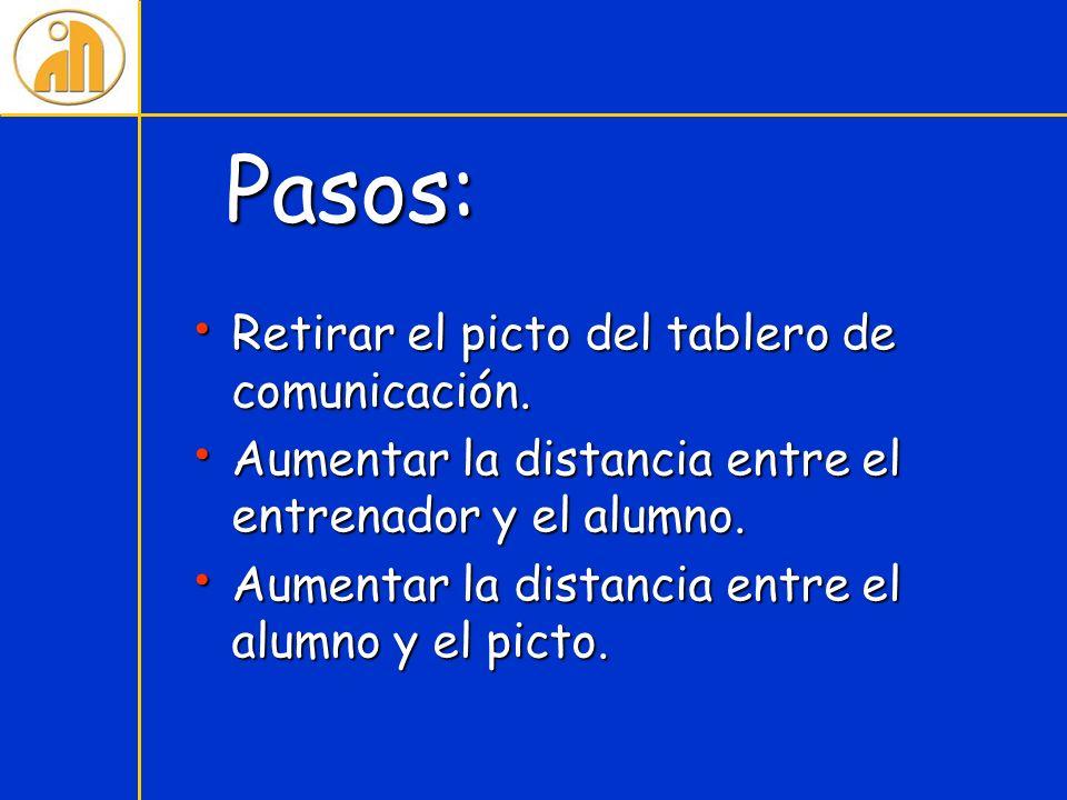 Pasos: Retirar el picto del tablero de comunicación.