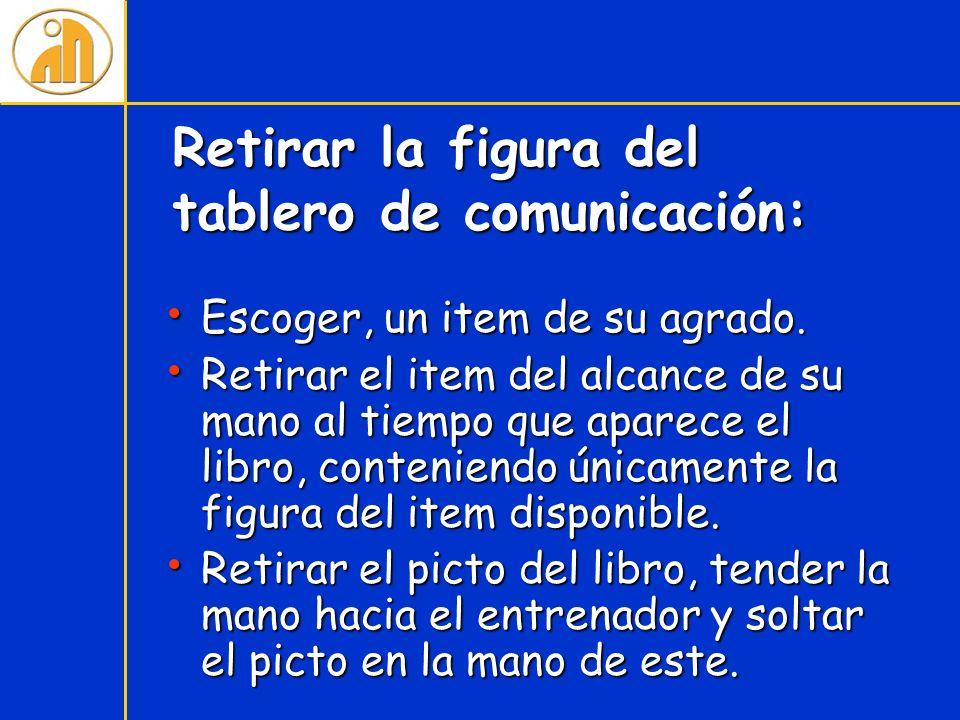 Retirar la figura del tablero de comunicación:
