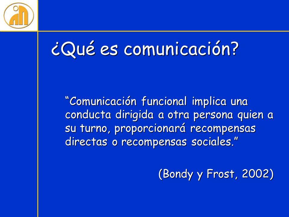 ¿Qué es comunicación