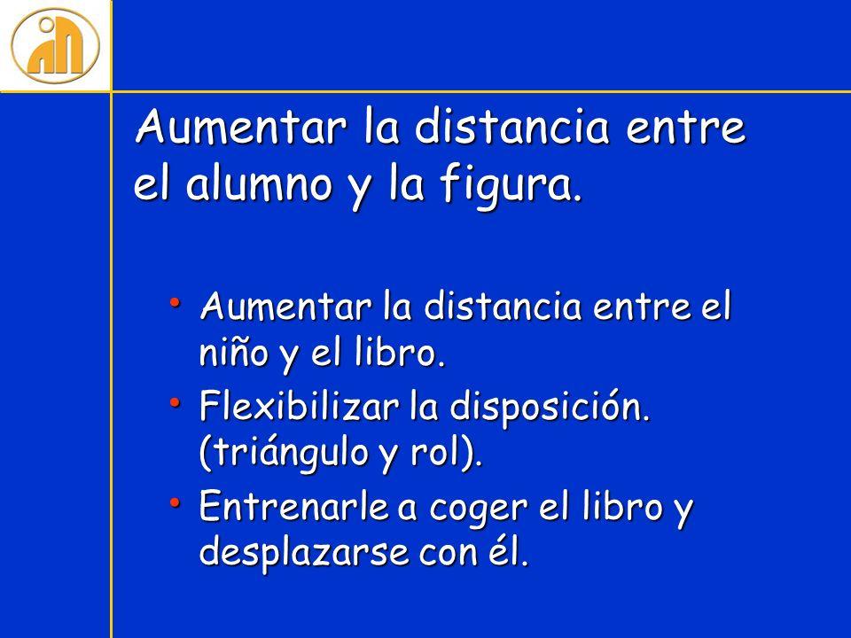 Aumentar la distancia entre el alumno y la figura.