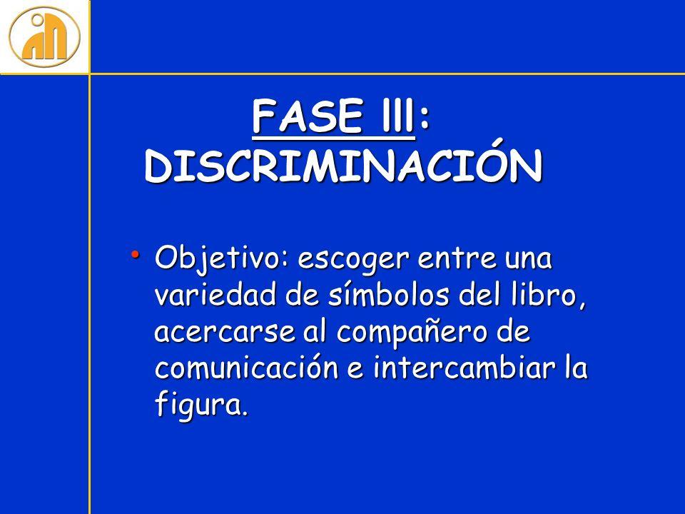 FASE lll: DISCRIMINACIÓN