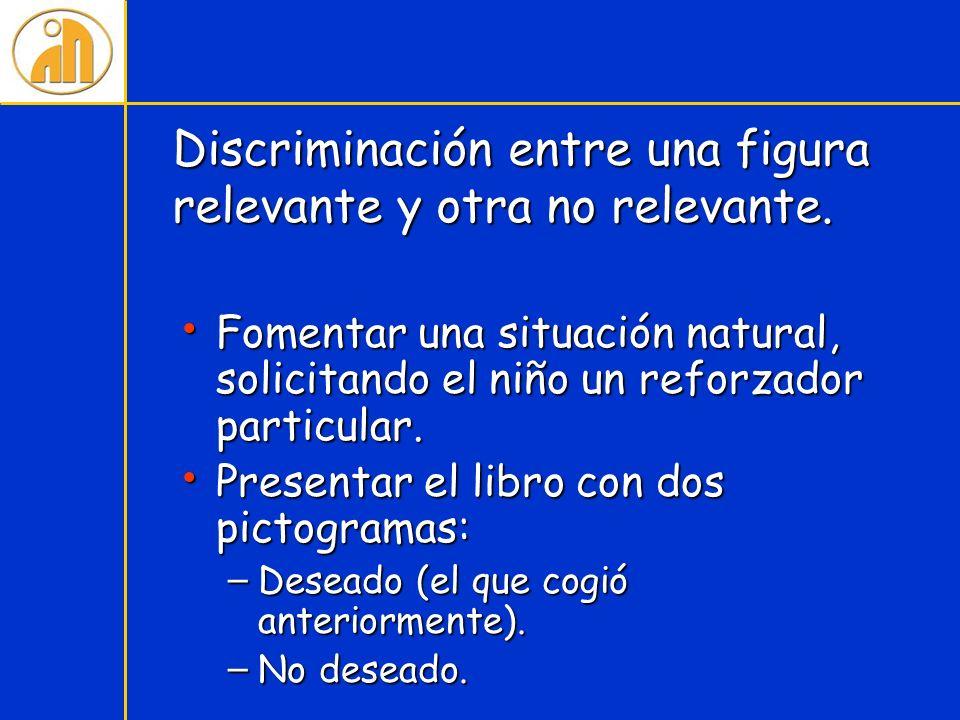 Discriminación entre una figura relevante y otra no relevante.