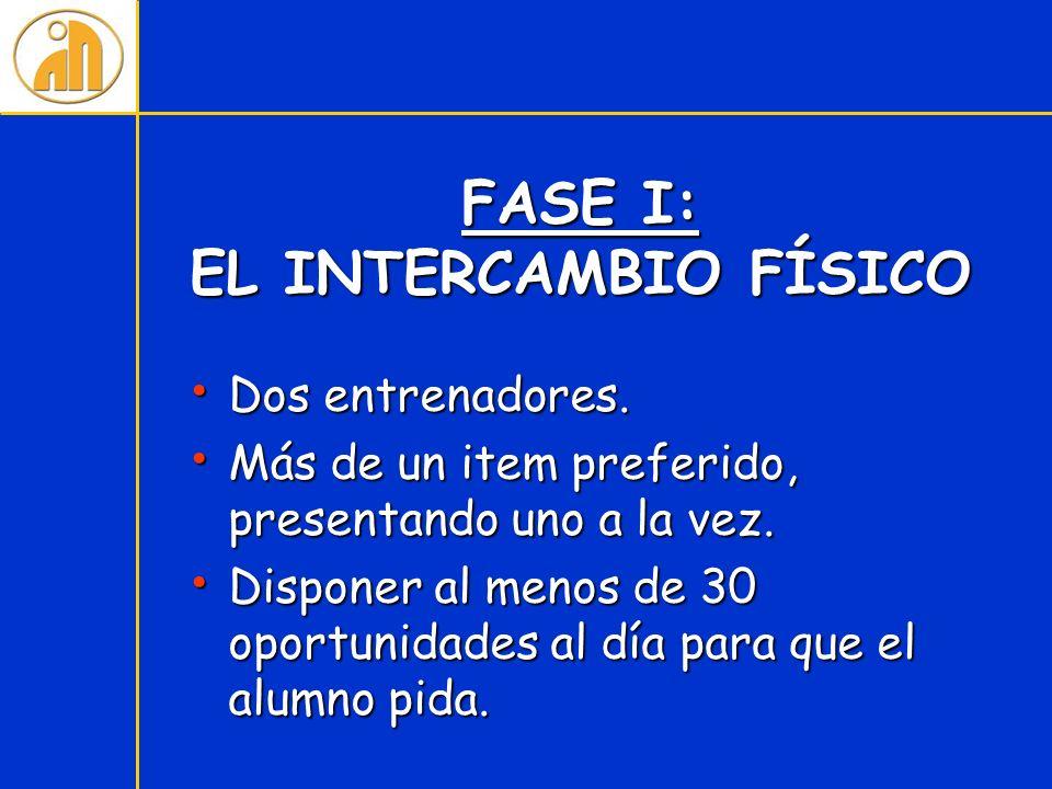 FASE I: EL INTERCAMBIO FÍSICO