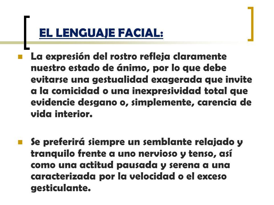 EL LENGUAJE FACIAL: