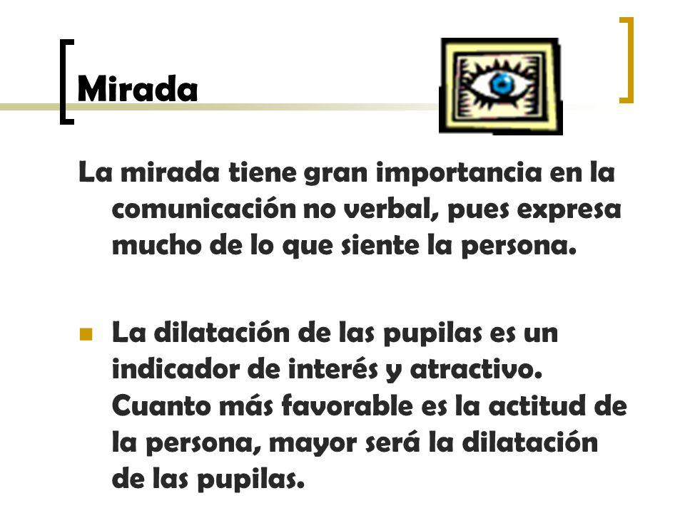 Mirada La mirada tiene gran importancia en la comunicación no verbal, pues expresa mucho de lo que siente la persona.