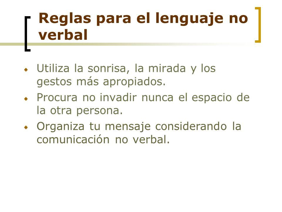 Reglas para el lenguaje no verbal