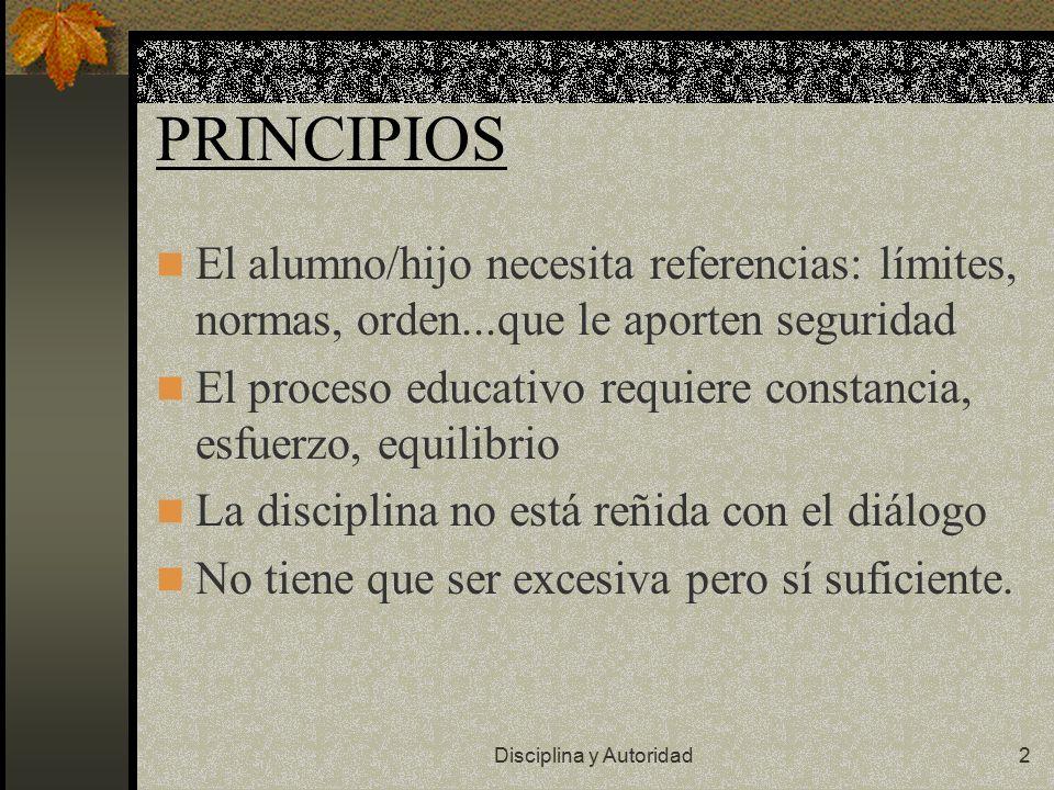 Disciplina y Autoridad