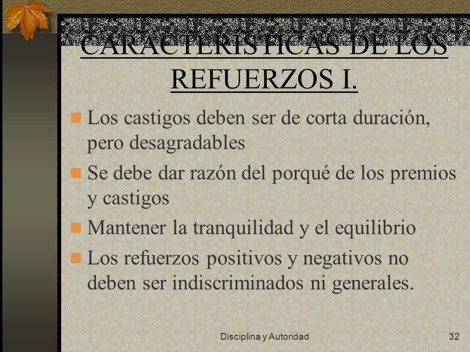 CARACTERÍSTICAS DE LOS REFUERZOS I.