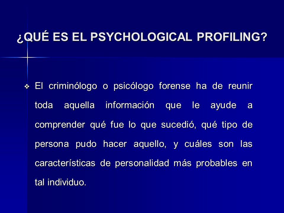 ¿QUÉ ES EL PSYCHOLOGICAL PROFILING