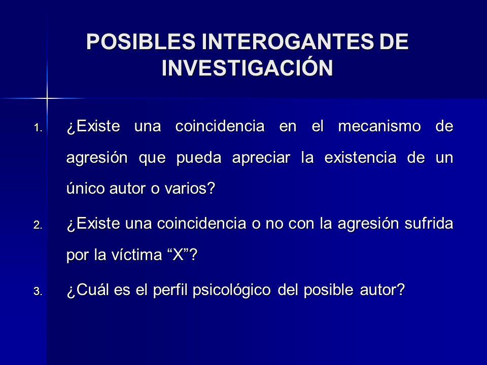 POSIBLES INTEROGANTES DE INVESTIGACIÓN